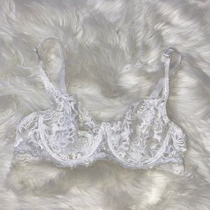 NWOT White Lace Bra